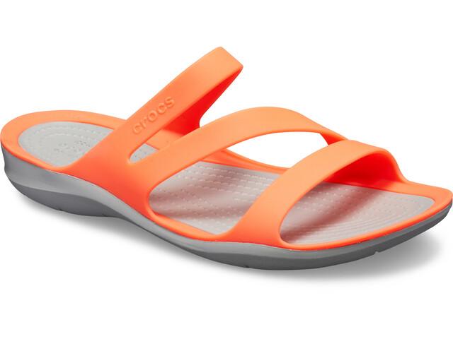 new concept 3dca2 6ab44 Crocs Swiftwater Sandals Damen bright coral/light grey